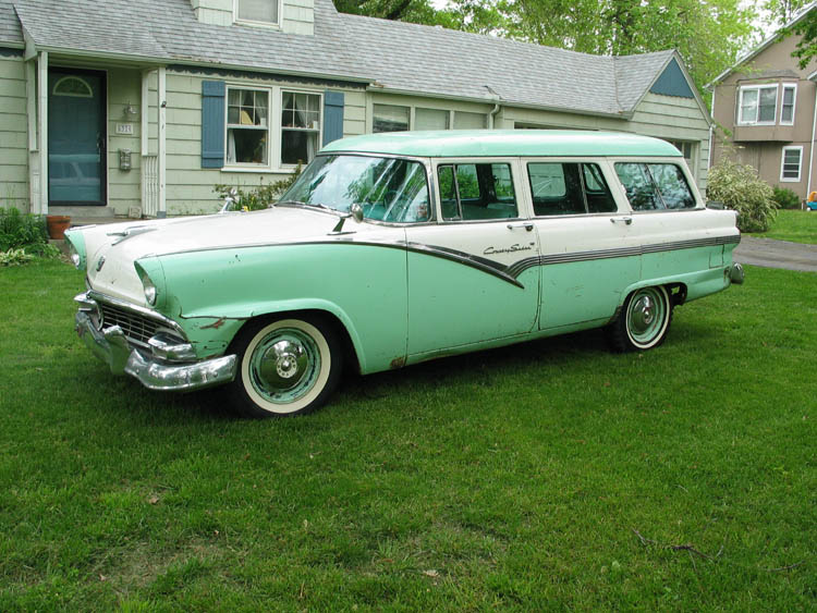 For Sale: 1956 Ford Country Sedan Wagon. This car is a nicely optioned